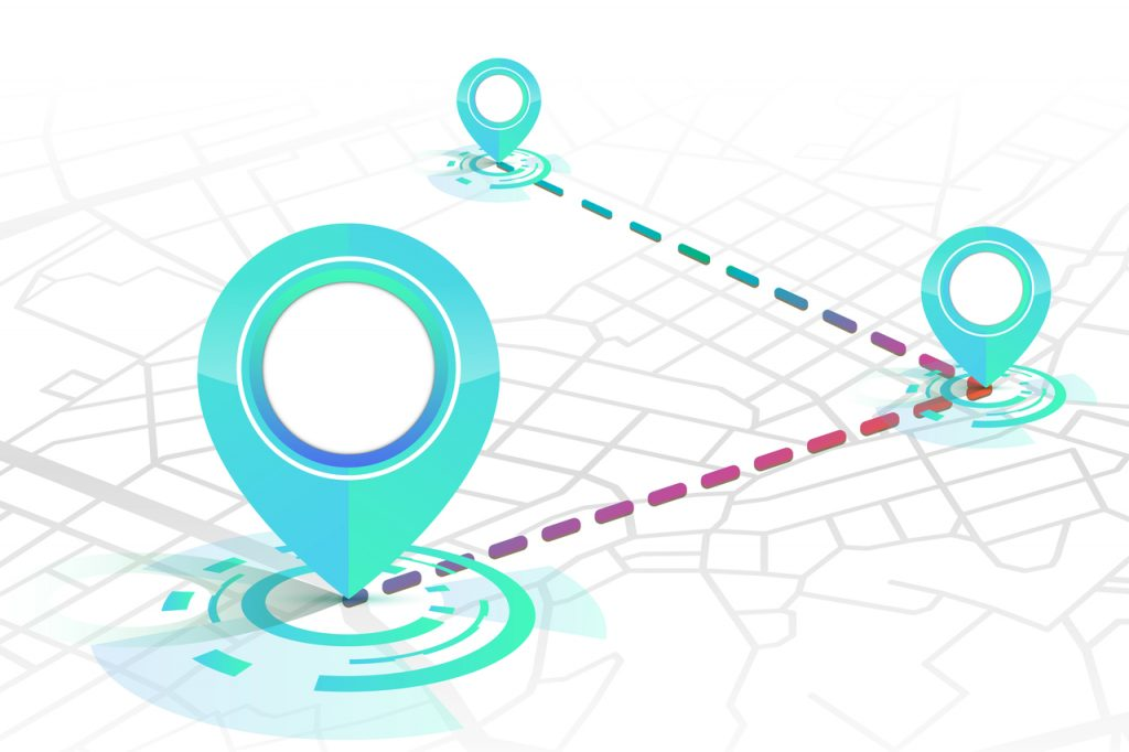 Delivery, package or order tracking concept