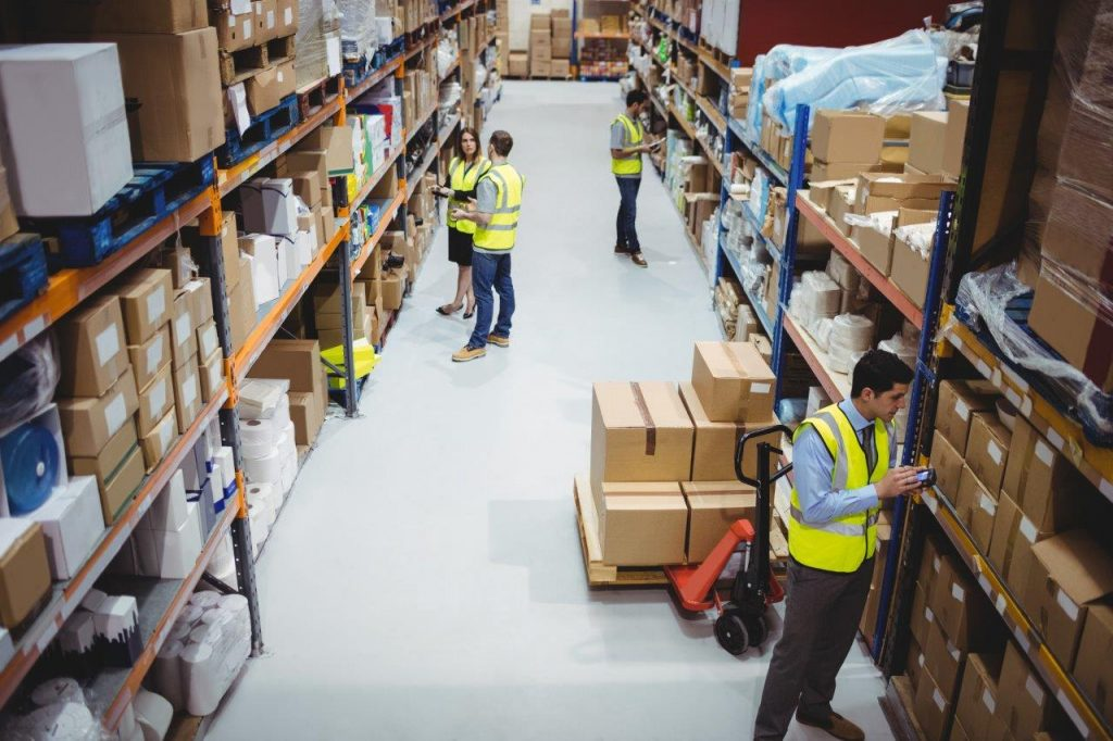 warehouse team checking inventory