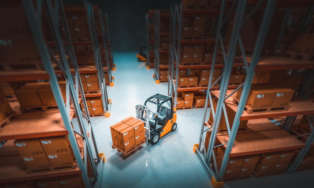 Internal storage at a warehouse