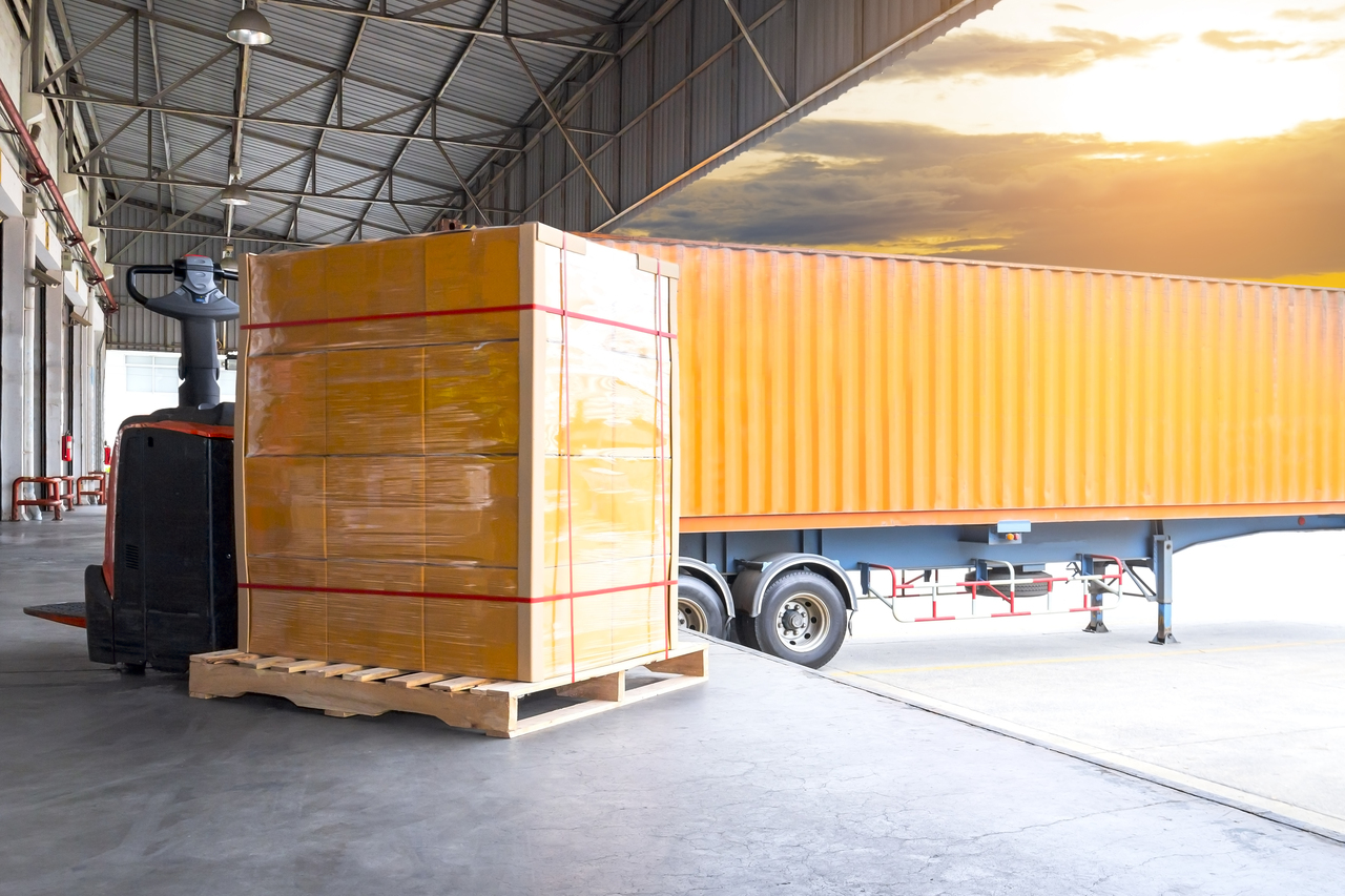 Boxes arriving at a warehouse