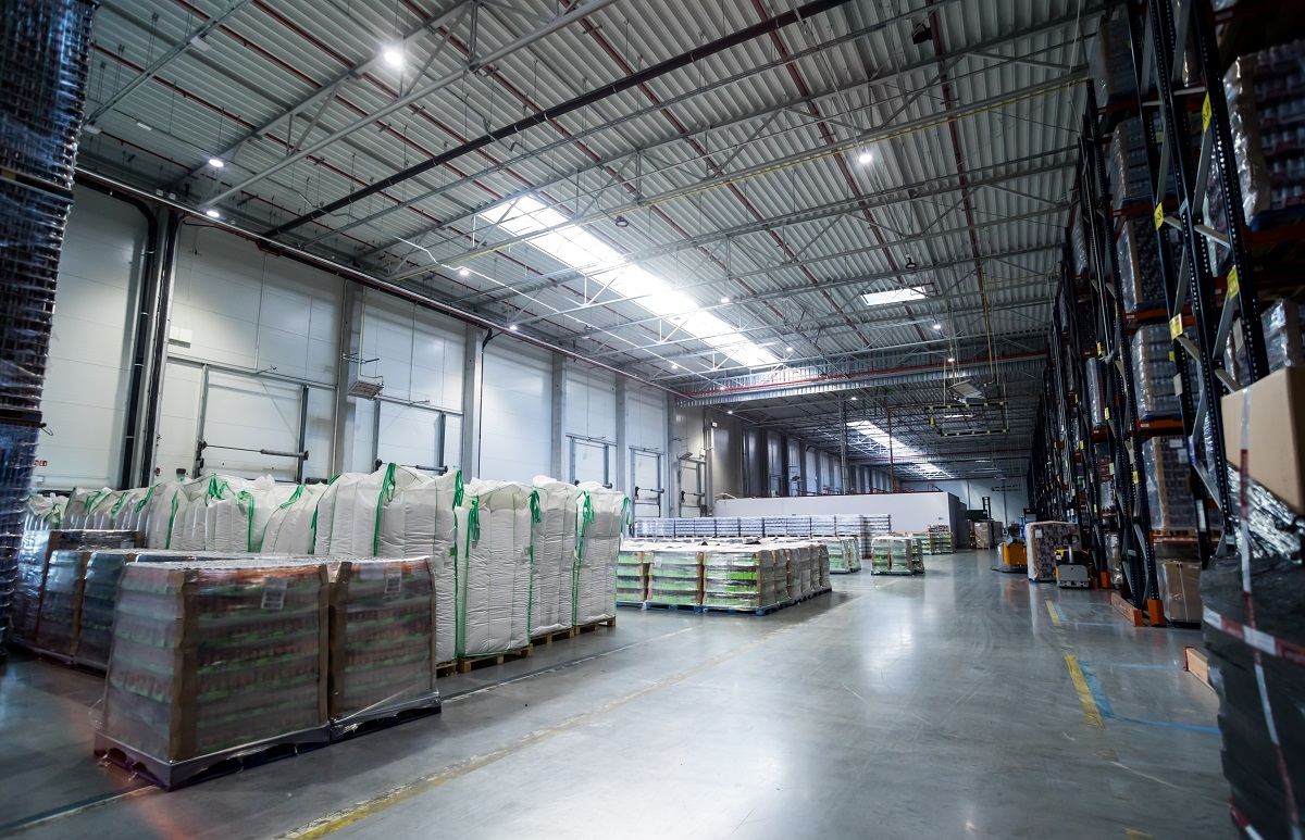 Storage warehouse interior